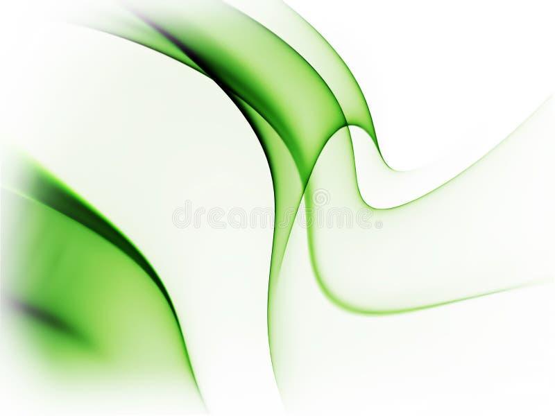 Dynamischer grüner abstrakter Hintergrund auf Weiß lizenzfreie abbildung