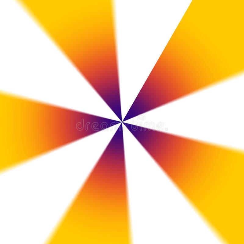 Dynamischer Mehrfarbenabstrakter radialhintergrund stock abbildung