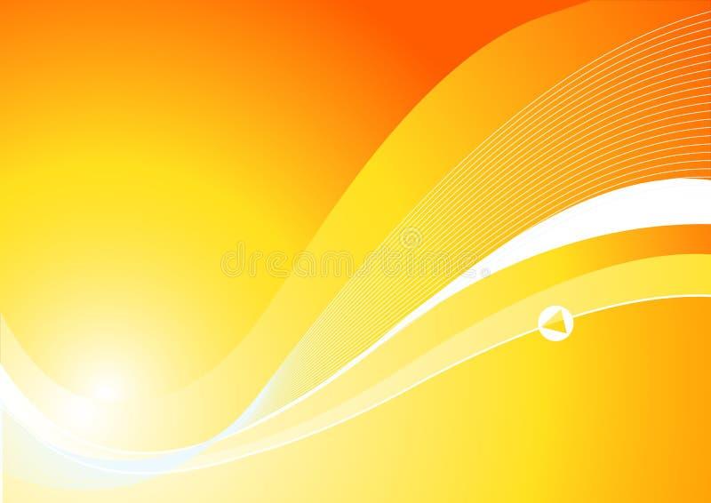 Dynamischer orange Hintergrund lizenzfreie abbildung