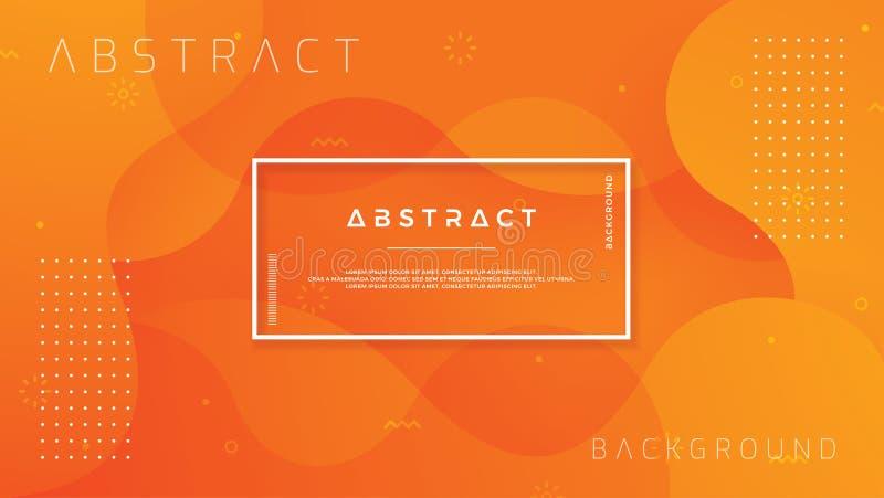 Dynamischer strukturierter Hintergrundentwurf in der Art 3D mit orange Farbe Hintergrund des Vektor Eps10 stock abbildung