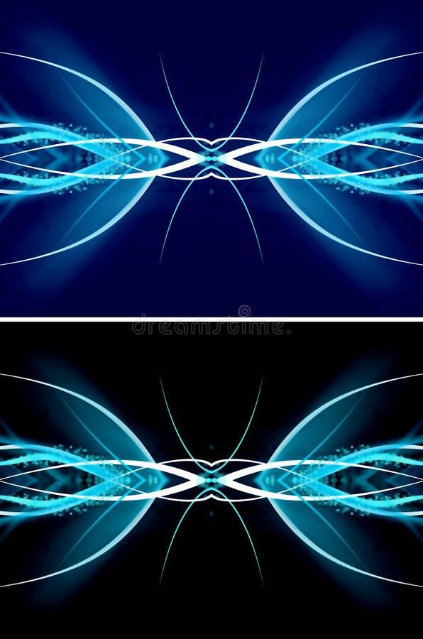 Dynamisk blåttvåg stock illustrationer
