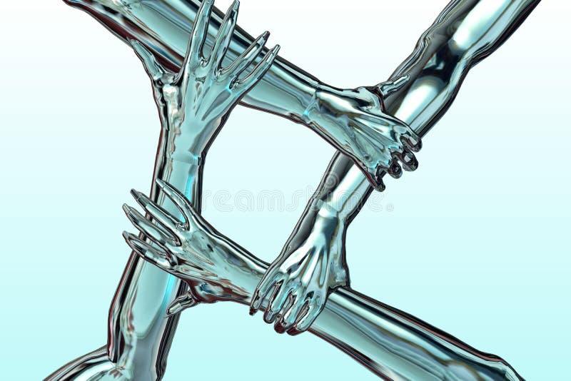 dynamiskt lag vektor illustrationer