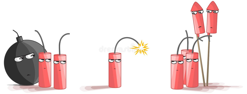 Dynamitbang Big Bang stock illustrationer