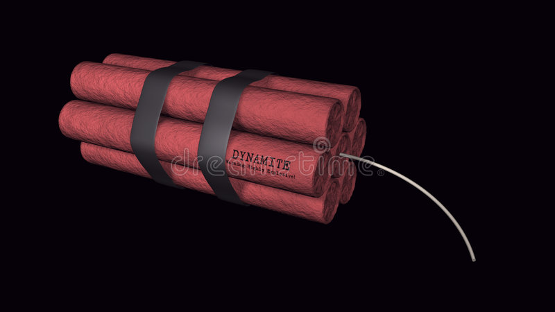 Download Dynamite On A Black Background Royalty Free Stock Photos - Image: 7052398