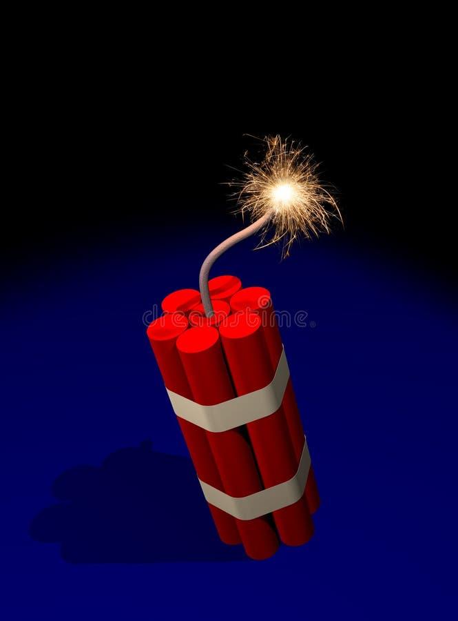 Download Dynamite fuse burning stock illustration. Illustration of detonate - 11981586