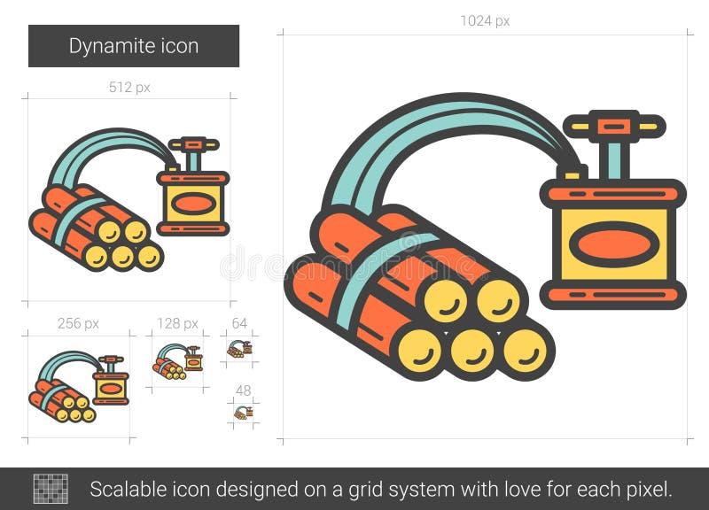 Dynamitlinje symbol vektor illustrationer