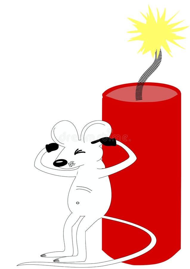 dynamitowa mysz obrazy royalty free