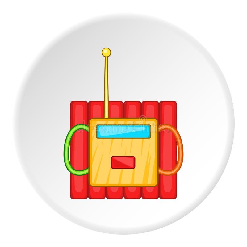 Dynamitsprängmedel symbol, tecknad filmstil vektor illustrationer