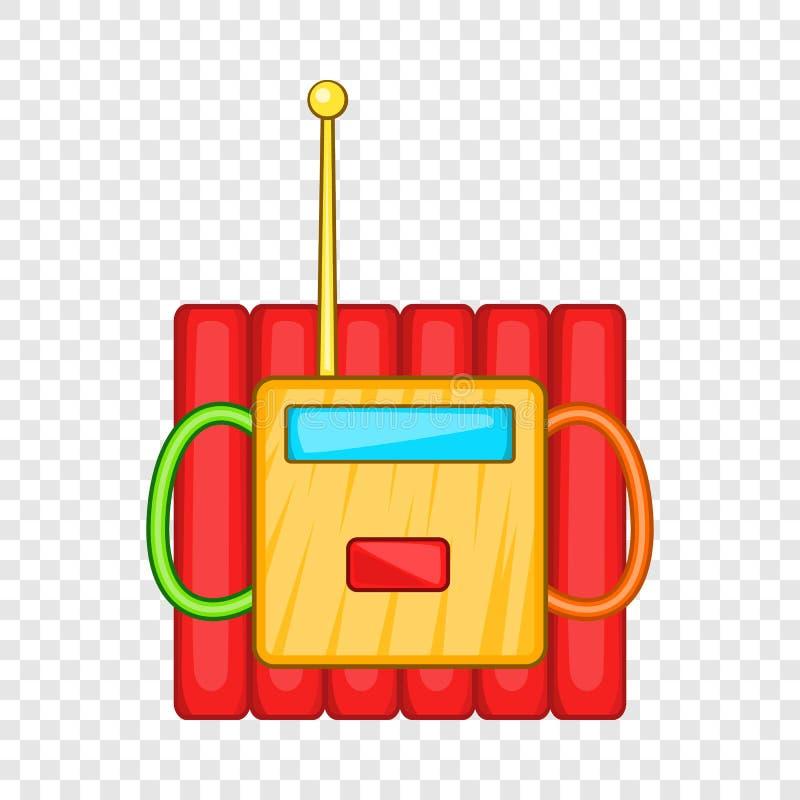 Dynamitsprängmedel symbol, tecknad filmstil stock illustrationer
