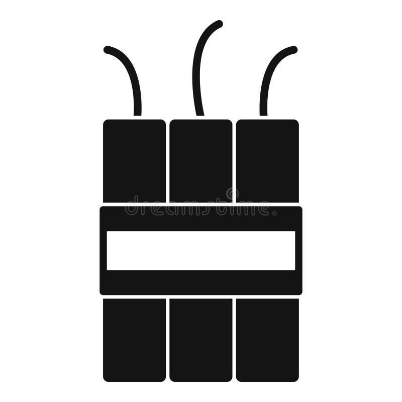 Dynamitsprängmedelsymbol, enkel stil stock illustrationer