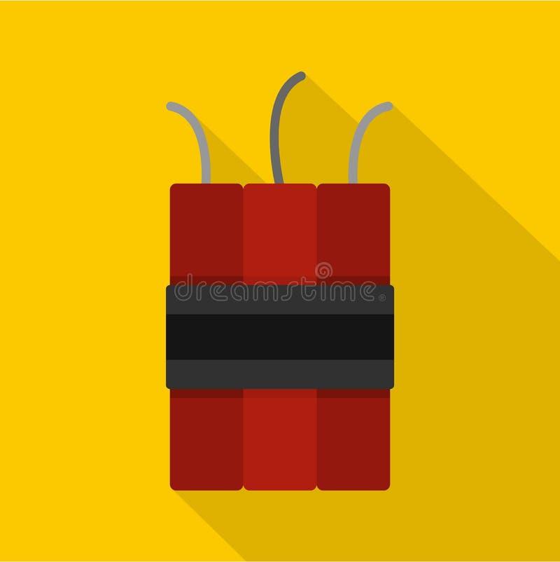 Dynamitsprängmedelsymbol, lägenhetstil vektor illustrationer