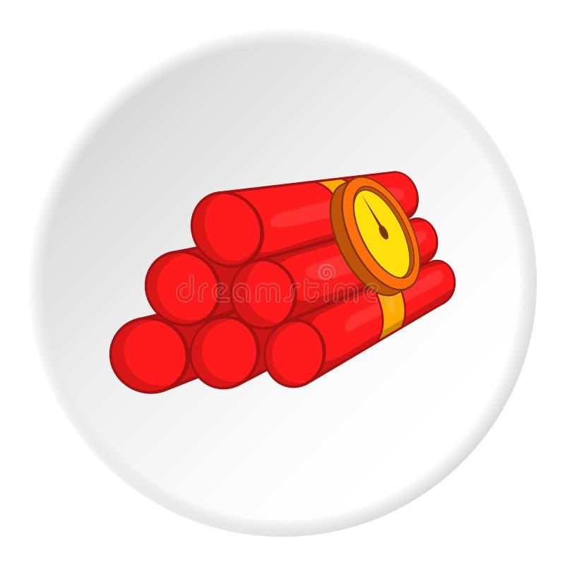 Dynamitsymbol, tecknad filmstil vektor illustrationer