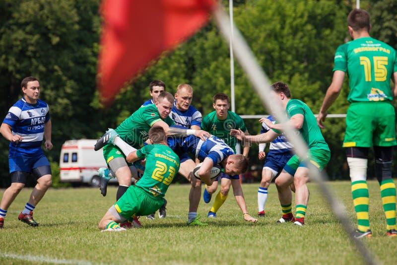 Dynamo de match de rugby - Zelenograd photographie stock