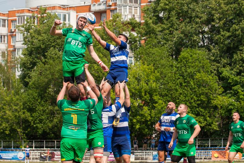 Dynamo de match de rugby - Zelenograd images stock