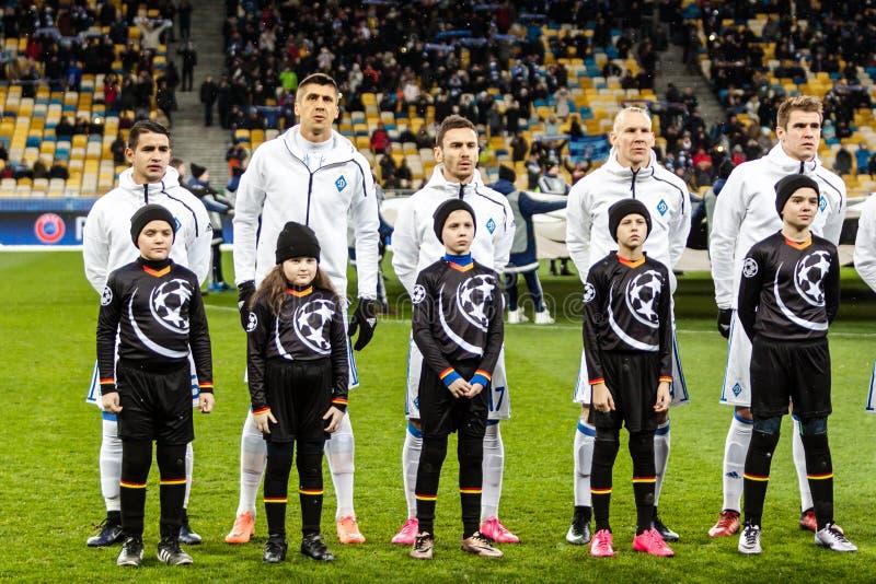 Dynamo för mästareligafotbollsmatch Kyiv - Besiktas, december royaltyfri foto