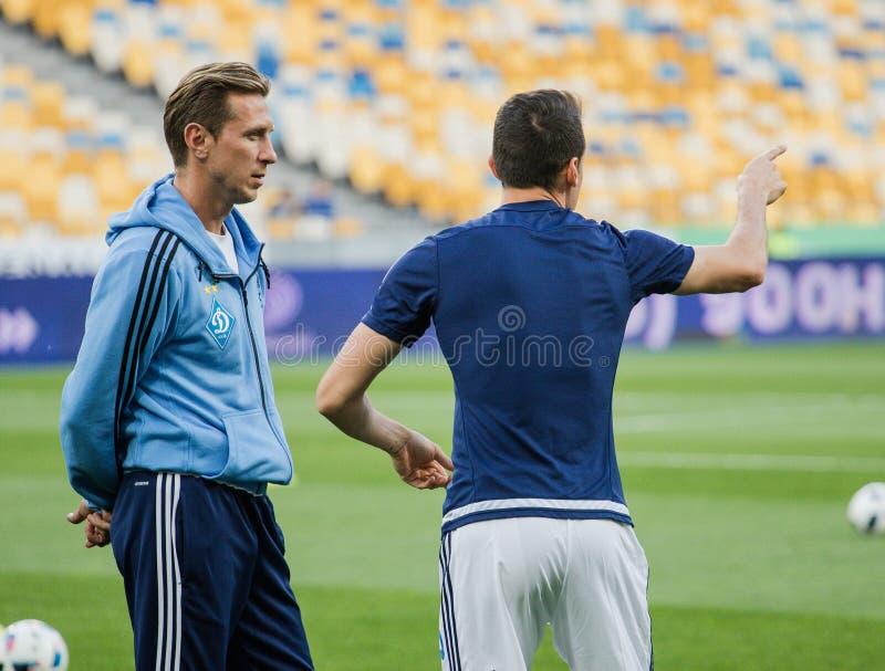 Dynamo Kiev contre Vorskla Poltava images stock