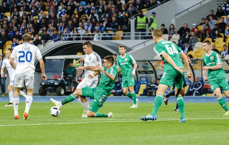 Dynamo Kiev vs Vorskla Poltava zdjęcia stock