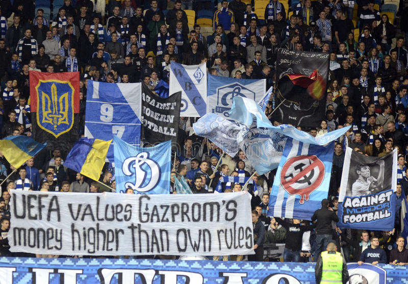 Dynamo Kyiv fans royalty free stock images