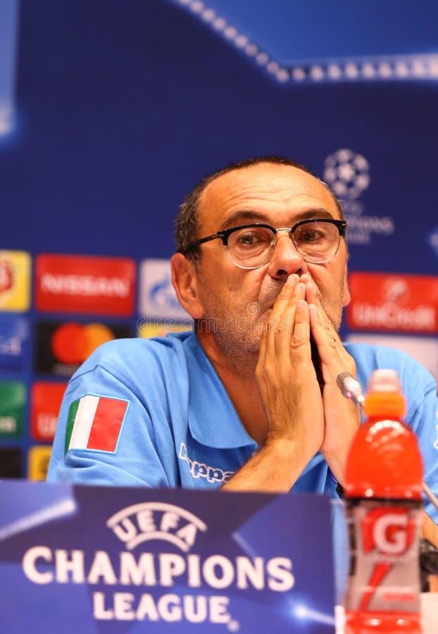 Download Dynamo Kyiv V Napoli De Ligue De Champions D'UEFA : Presse-conférence De Pré-match Photo éditorial - Image du italie, maurizio: 77154971