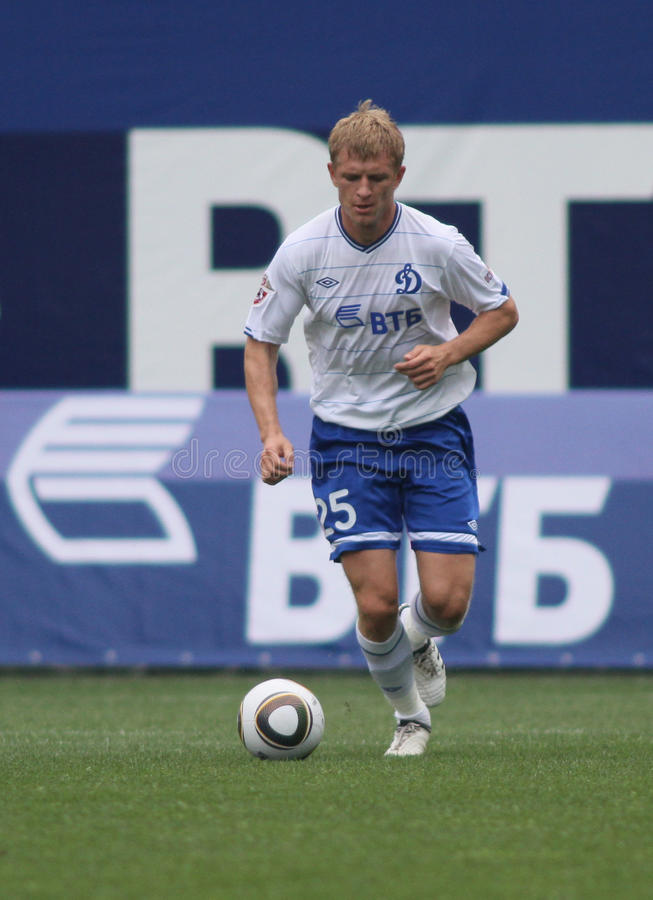 Download Dynamo Moscow's Defender Denis Kolodin Editorial Stock Photo - Image of game, dribble: 15793173