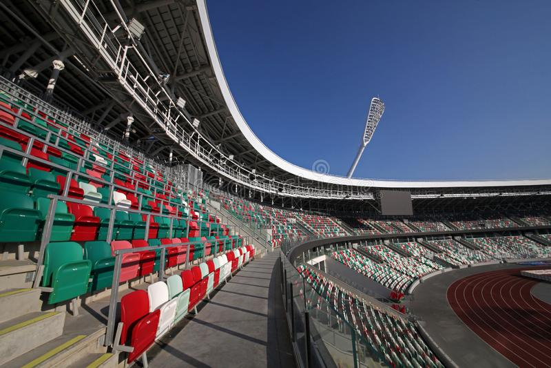 Dynamo-Stadion nach Rekonstruktion vor dem europäischen Spiel I I stockfotografie
