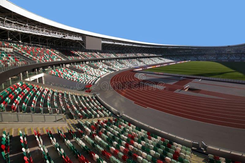 Dynamo-Stadion nach Rekonstruktion vor den europäischen Spielen I I stockbild
