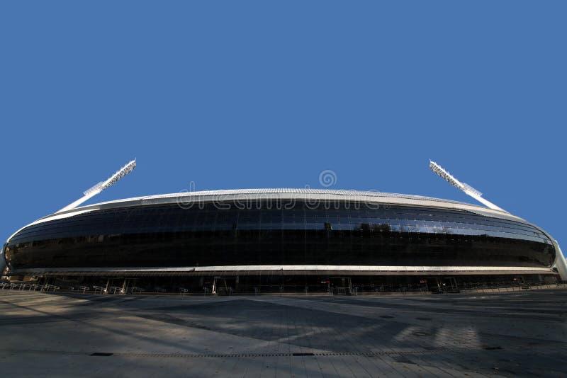 Dynamo-Stadion nach Rekonstruktion vor den europ?ischen Spielen I I im Jahre 2019 stockbilder