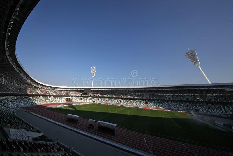 Dynamo-Stadion nach Rekonstruktion vor den europ?ischen Spielen I I im Jahre 2019 stockbild