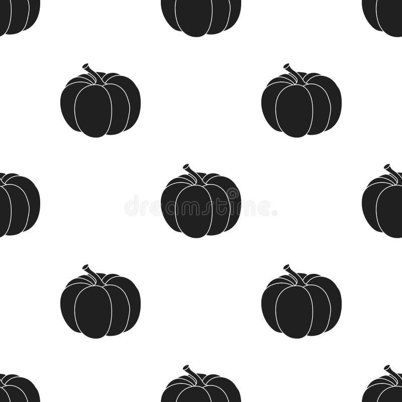 Dyniowa ikona w czerń stylu odizolowywającym na białym tle Kanadyjska dziękczynienie dnia wzoru zapasu wektoru ilustracja ilustracja wektor