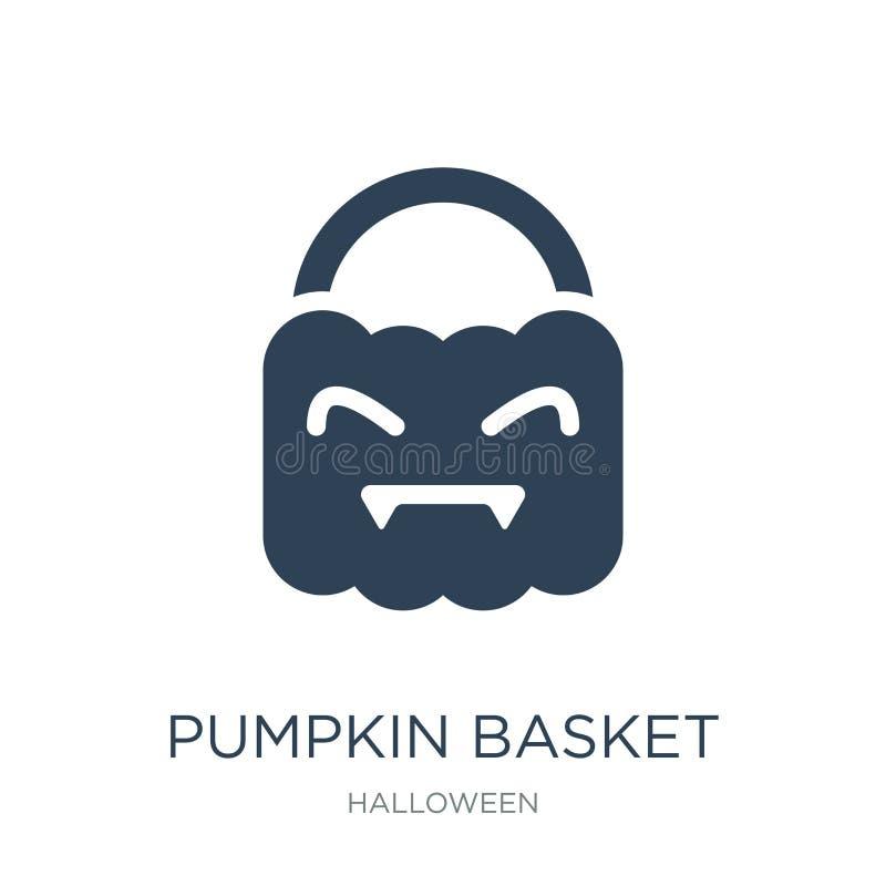 dyniowa koszykowa ikona w modnym projekta stylu dyniowa koszykowa ikona odizolowywająca na białym tle dyniowa koszykowa wektorowa ilustracji