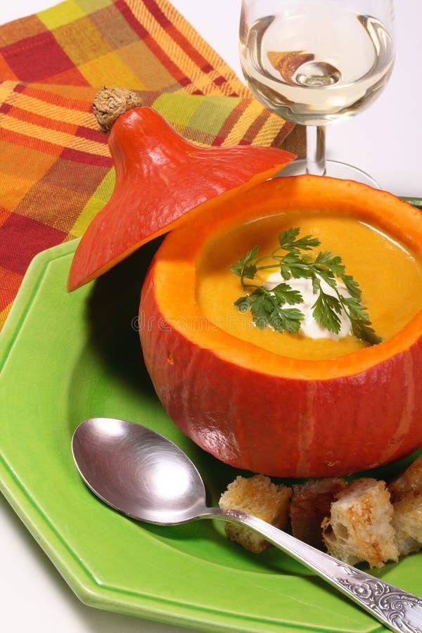 dyniowa zupę. fotografia stock