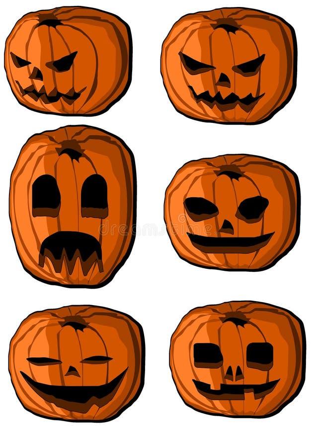 dyniowi Halloween inkasowi lampiony royalty ilustracja