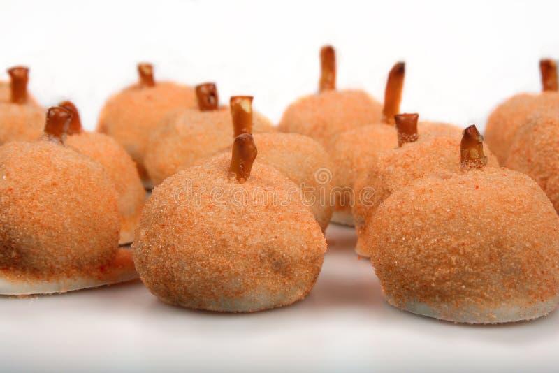 Dyniowi Wakacyjni cukierki zdjęcie stock