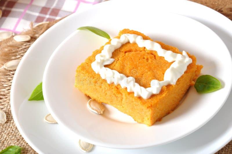 Dyniowy pudding zdjęcia royalty free