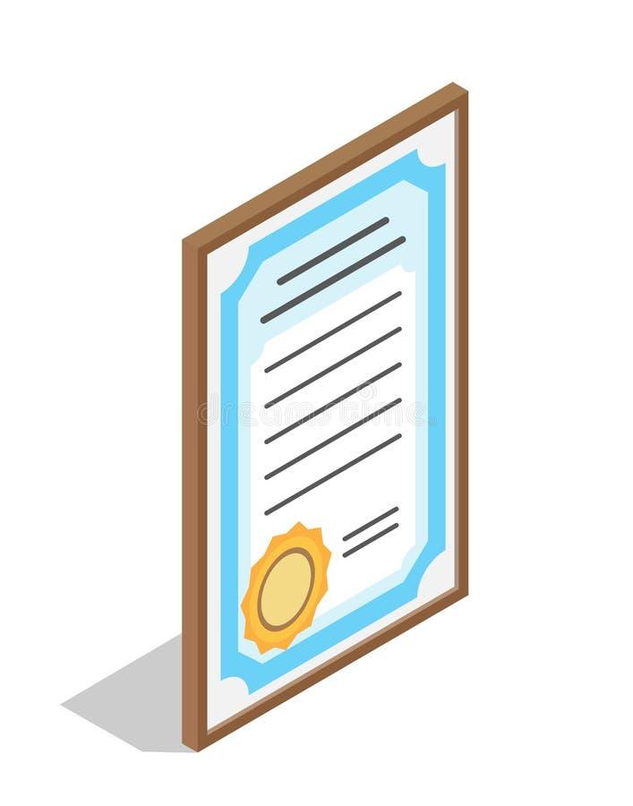 Dyplom dla instytuci edukacyjnej skalowania royalty ilustracja