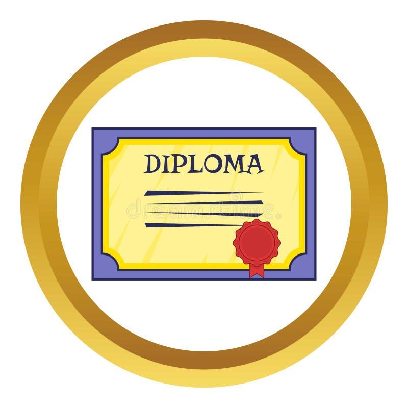 Dyplom ikona royalty ilustracja
