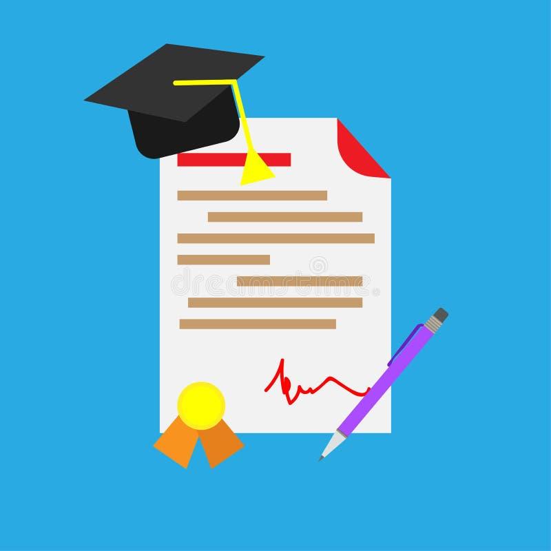 Dyplomu cerificate świętowania nauka Ceremonii wiedzy szablonu tła nagroda Wektorowego skalowanie uczenie pusty stopień unive ilustracja wektor