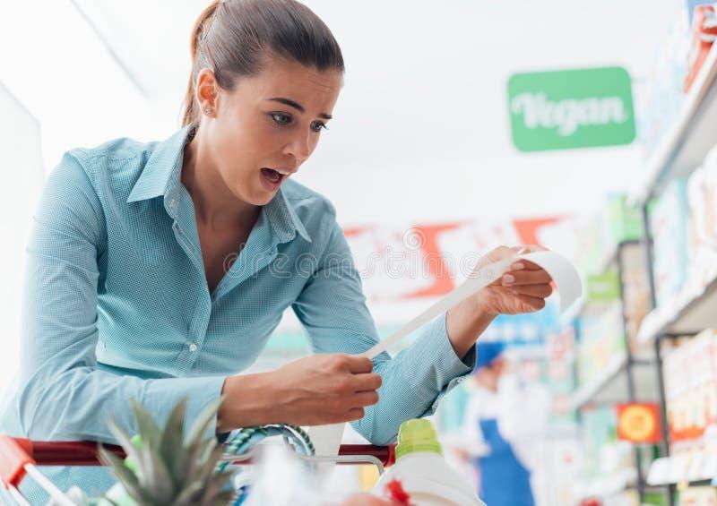 Dyr livsmedelsbutik royaltyfri bild
