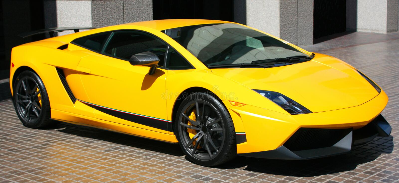 dyr yellow för bil arkivbild
