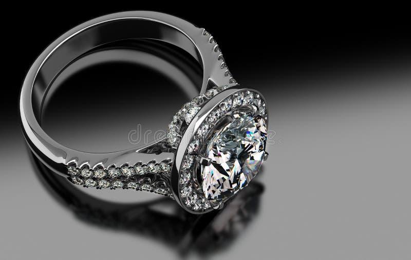 Download Dyrbara Diamond Ring stock illustrationer. Illustration av förhållande - 37344164