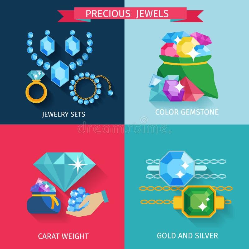 Dyrbara juvlar sänker vektor illustrationer