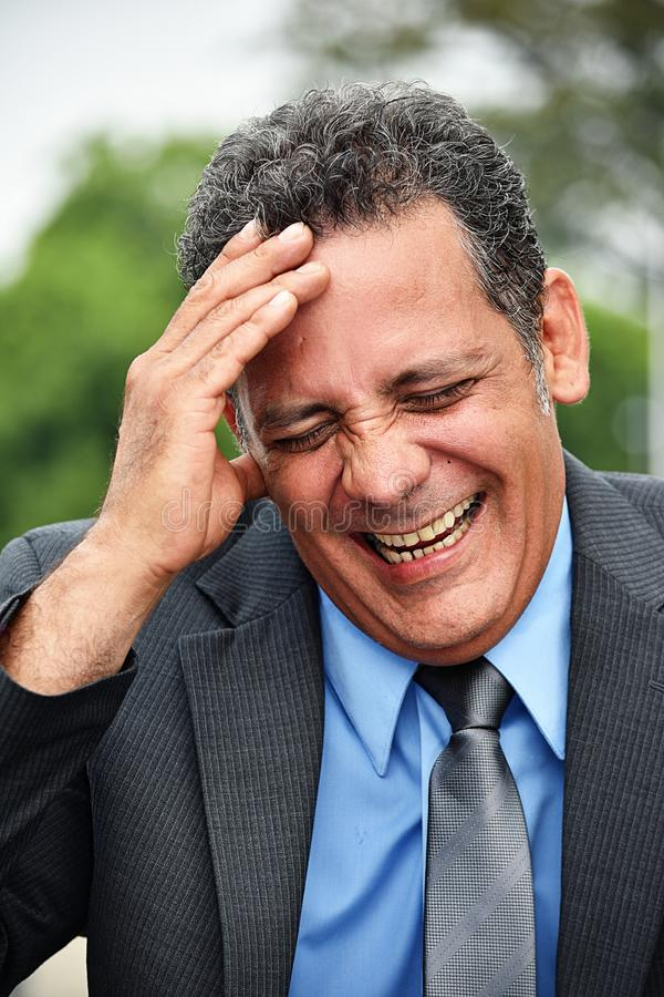 Dyrektor Wykonawczy I śmiech fotografia royalty free