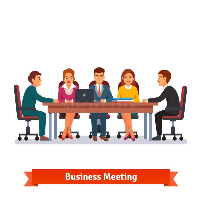 Dyrektora deskowy biznesowy spotkanie brainstorming ilustracji