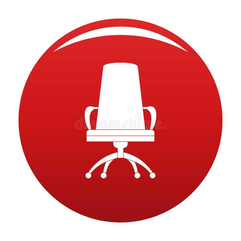Dyrektora krzesła ikony wektoru czerwień ilustracji