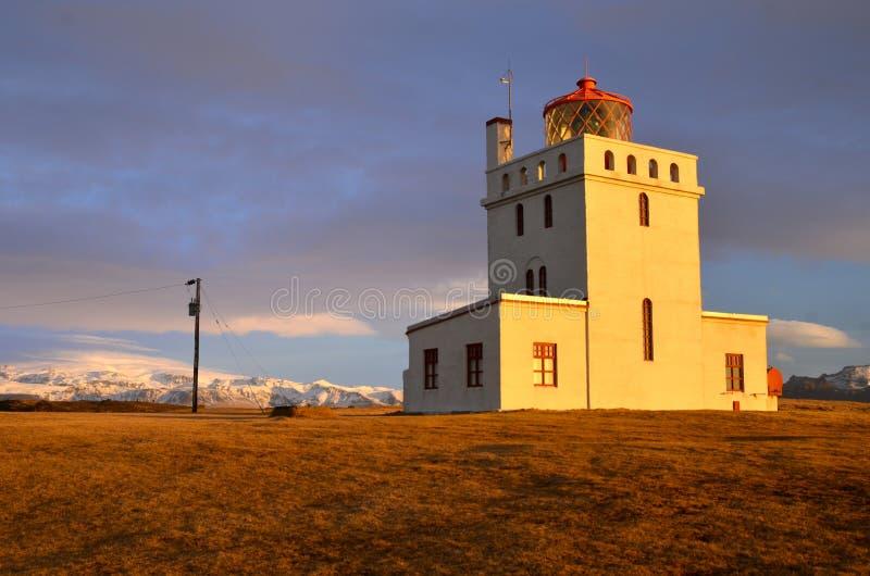 Dyrhlaey latarnia morska, Iceland obraz royalty free