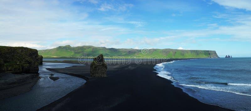 Dyrholaey cape, sand beach royalty free stock photography