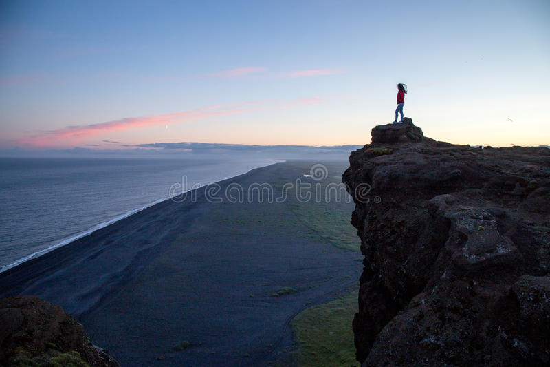 Dyrholaey cliffs in Southern Iceland royalty free stock photo