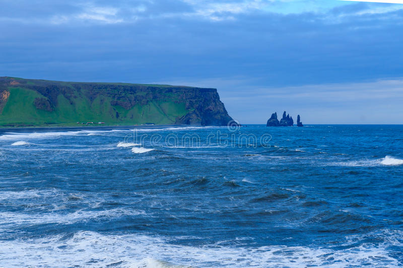 Dyrholaey, a headland in south Iceland stock images