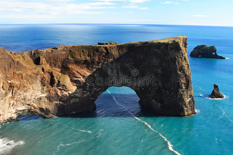 Dyrholaey In Iceland 2. The Dyrholaey peninsula arch located in Iceland