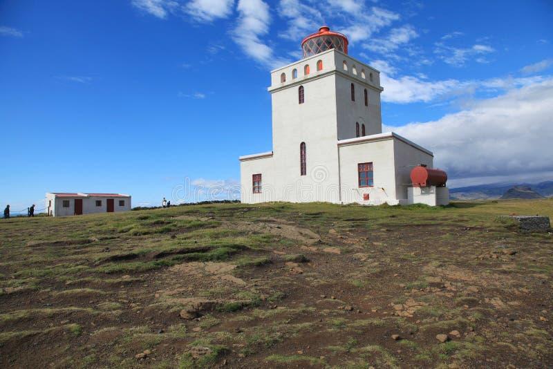 Dyrholaey Lighthouse in Iceland. Dyrholaey Lighthouse on a sunny day in Iceland royalty free stock photos
